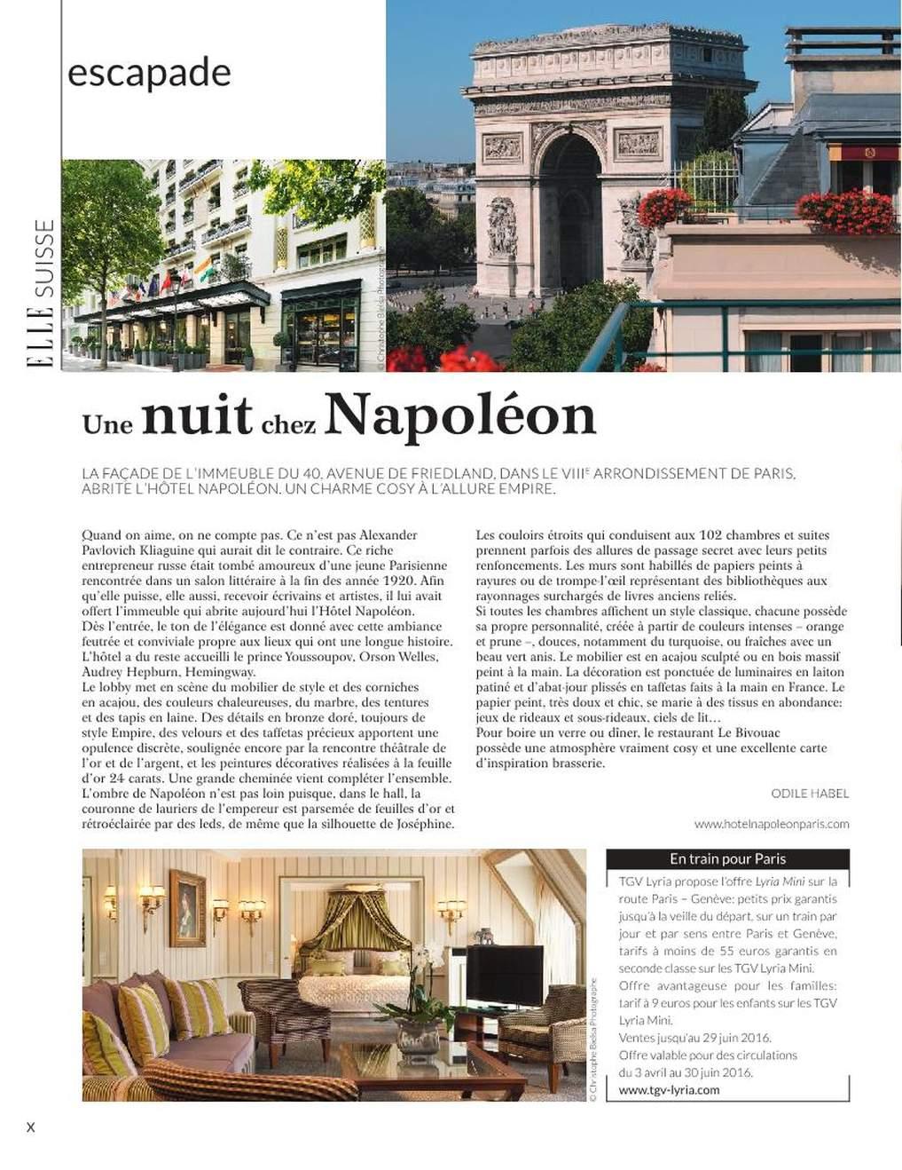 Escapade chez Napoléon